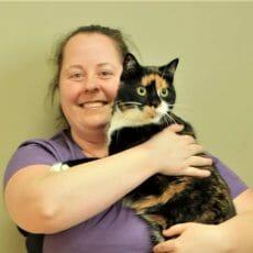 Melanie holding a cat