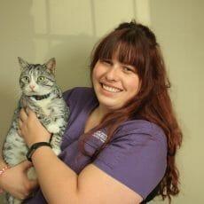 Victoria holding a cat